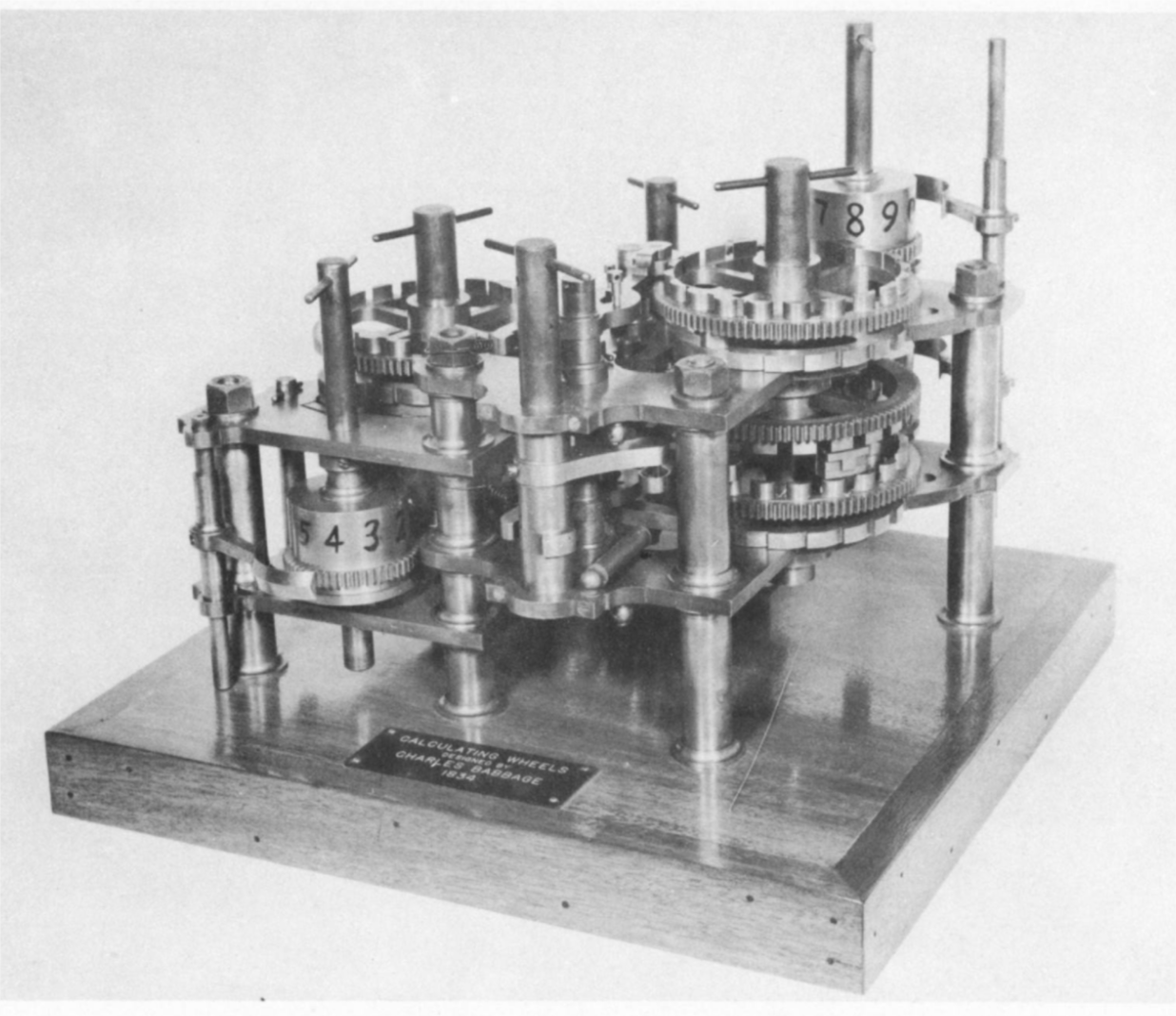 Calculating wheels by Charles Babbage. Image taken from the Mark I 'operating manual'