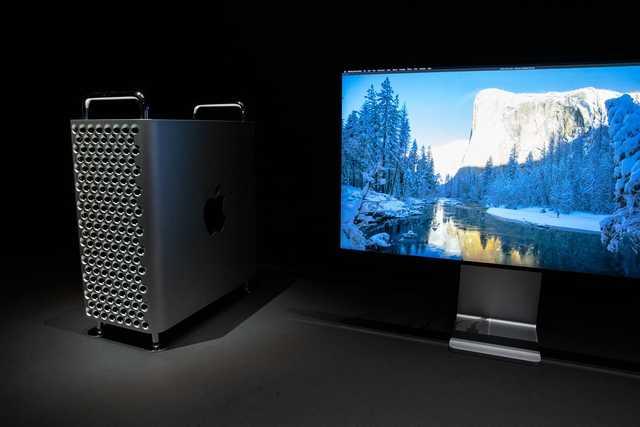 mac pro and display