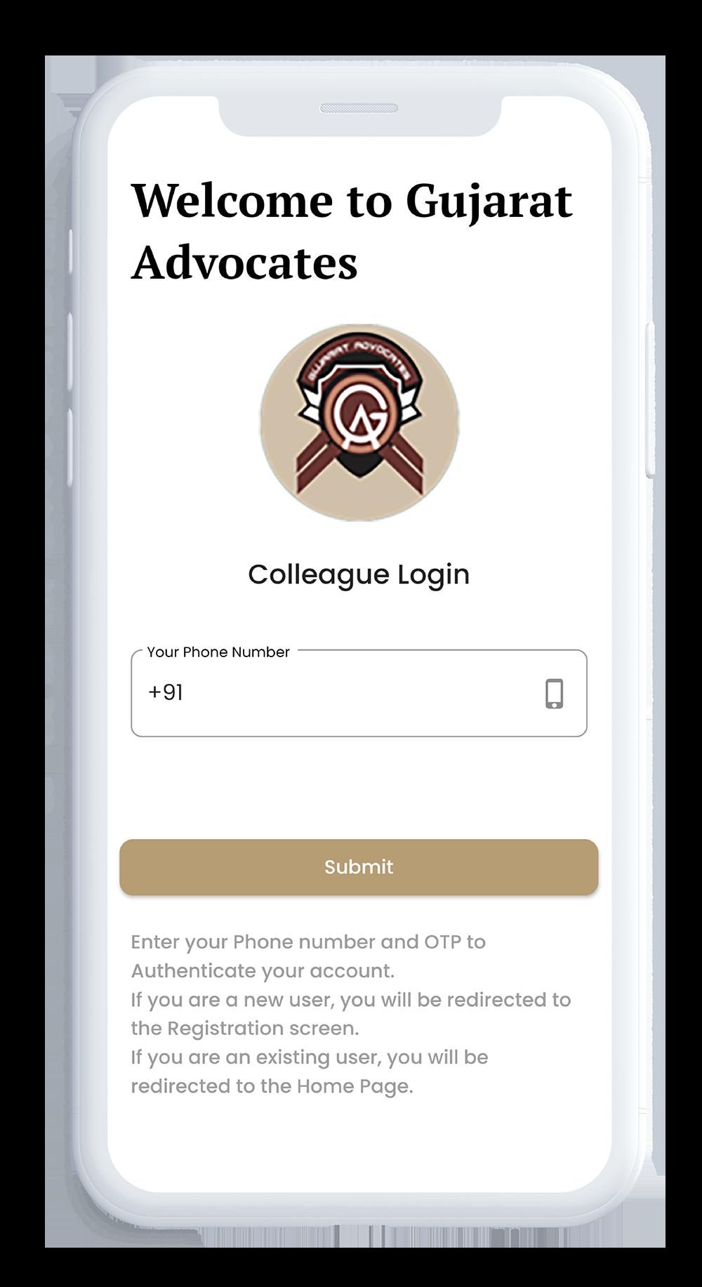 Law firm App development design