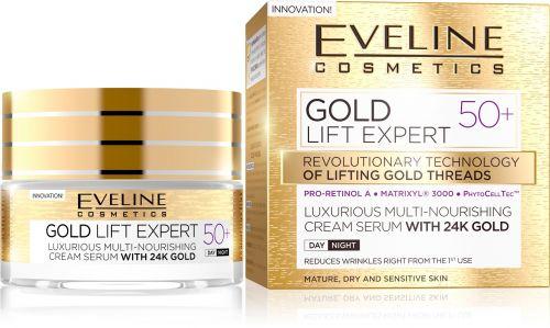 EVELINE GOLD LIFT EXPERT 50+ LUXUS TÁPLÁLÓ KRÉM-SZÉRUM NAPPALI-ÉJSZAKAI ARCKRÉM 50 ml | Eveline Cosmetics