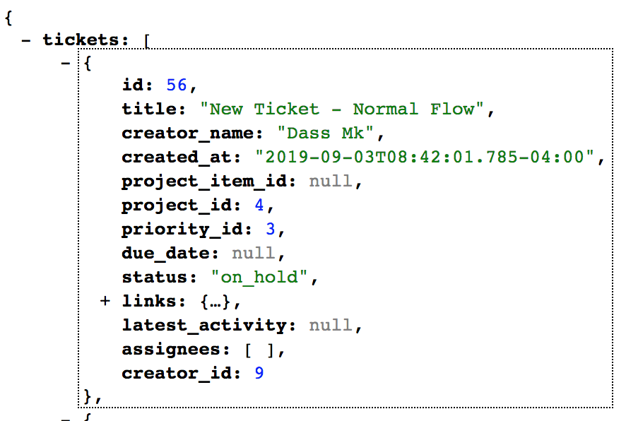 snake-cased JSON