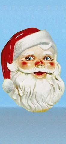 Giant Santa Face Plaque photo