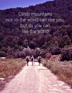 Urcă munţii