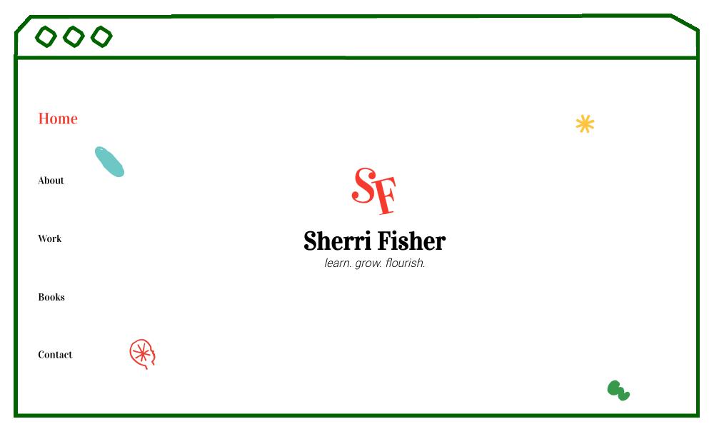 desktop display of home page