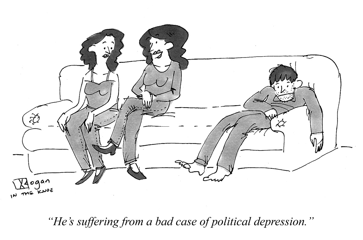 He's suffering from a bad case of political depression.