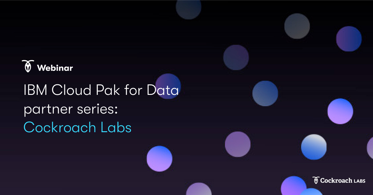 Cloud-native SQL for Cloud Pak for Data