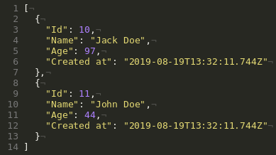 Multiple POST JSON Example