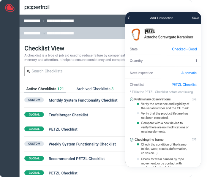 Checklists screenshot