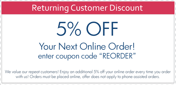 Returning customer discount