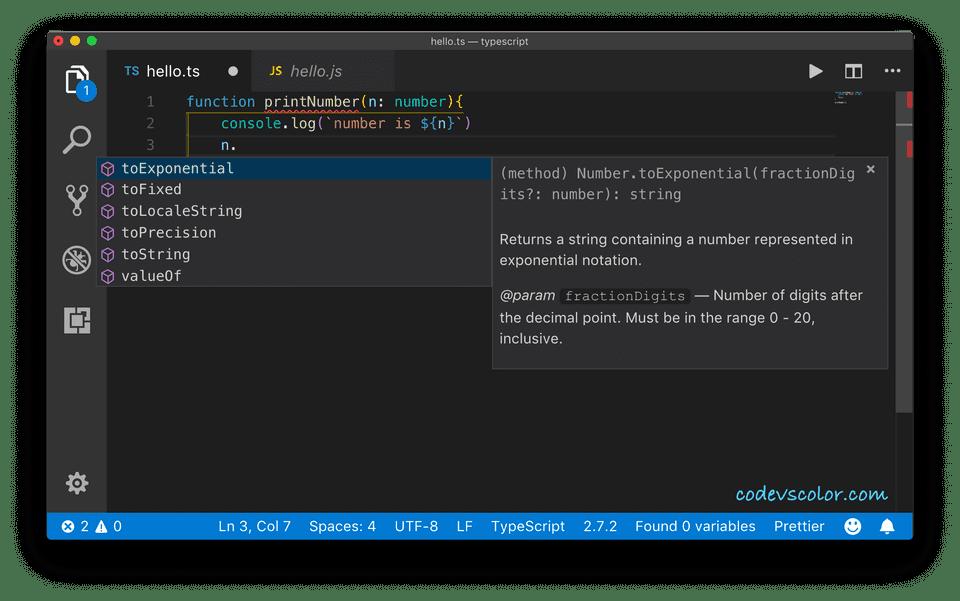 TypeScript VScode example
