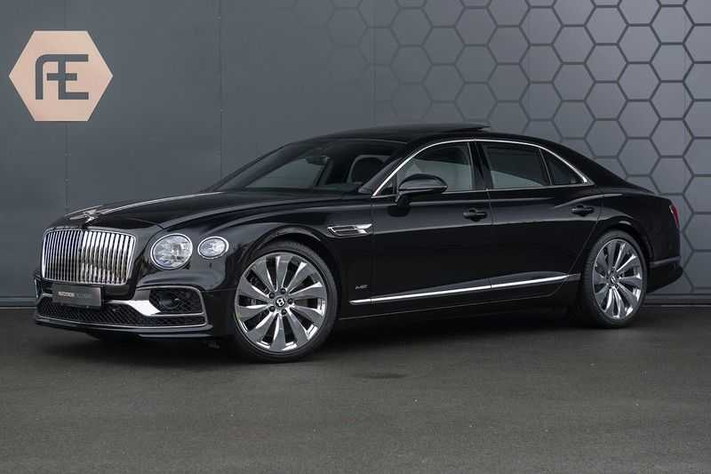 Bentley Flying Spur 6.0 W12 FIRST EDITION MY 2021 NAIM + Mulliner + Touring Spec + Head-Up + Bentley Rotating Display + Onyx Pearl / Beluga + Full Option + afbeelding 1