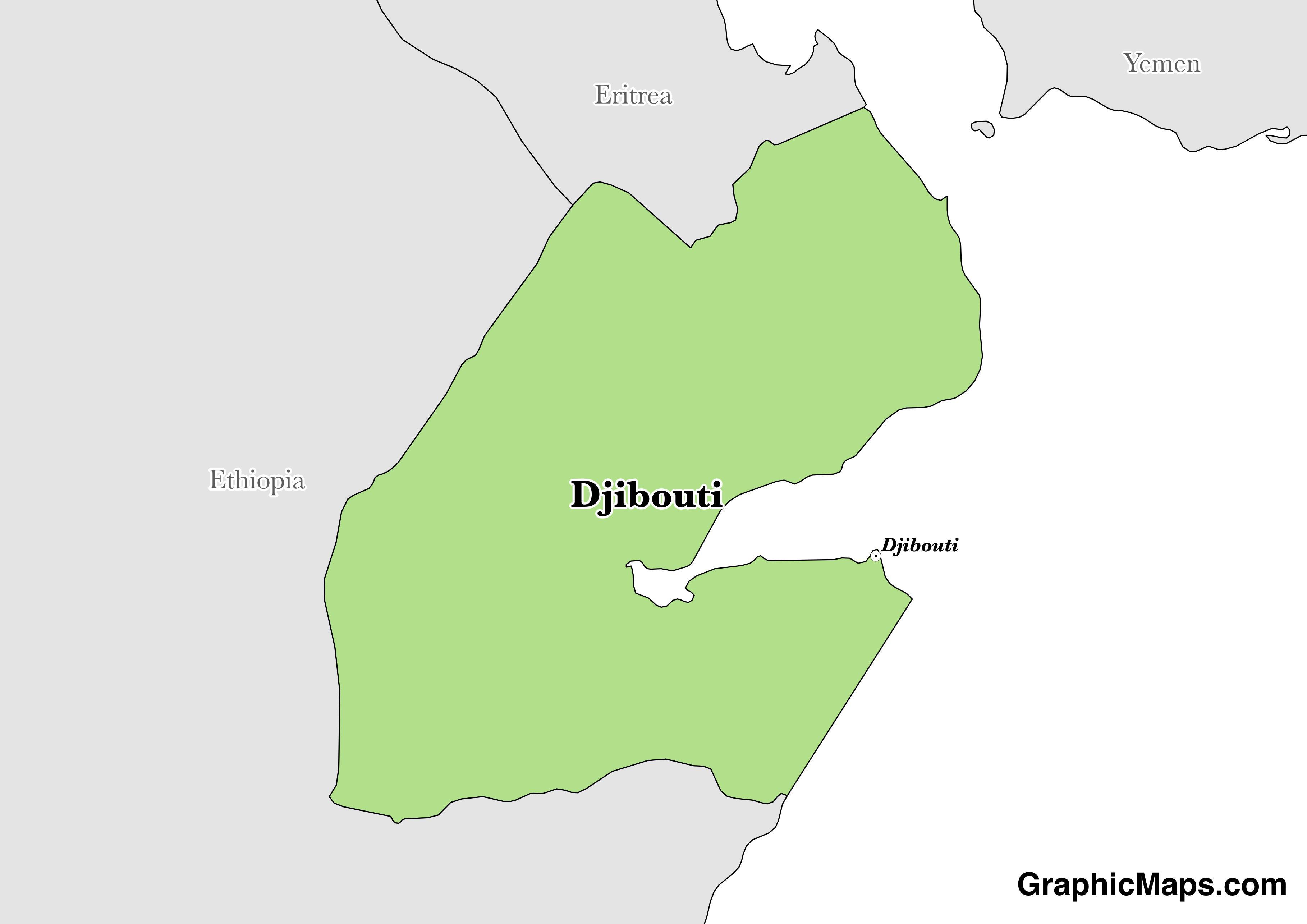 Djibouti / GraphicMaps.com