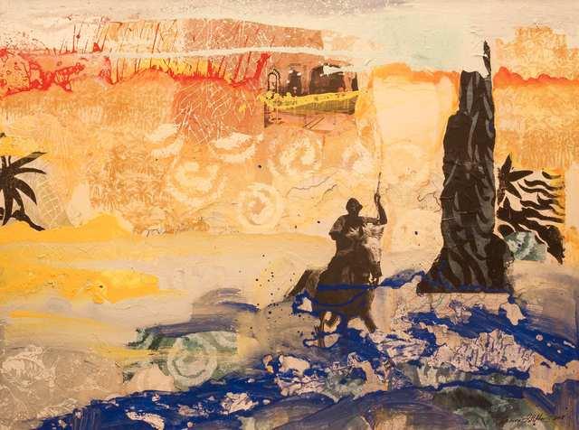 Kuda Sumba, acrylic collage on canvas