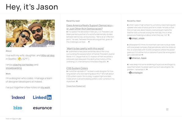 Screenshot of Jason Wilkens
