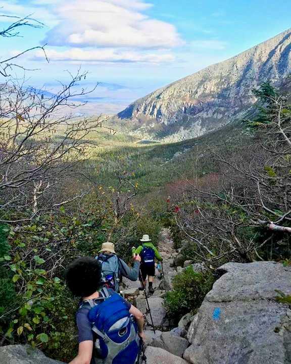 Descending Saddle Trail
