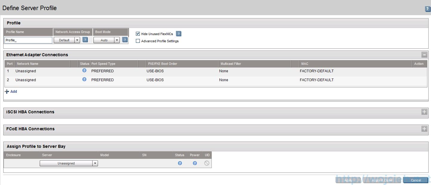 HP Virtual Connect Module Configuration - Server Profiles 2