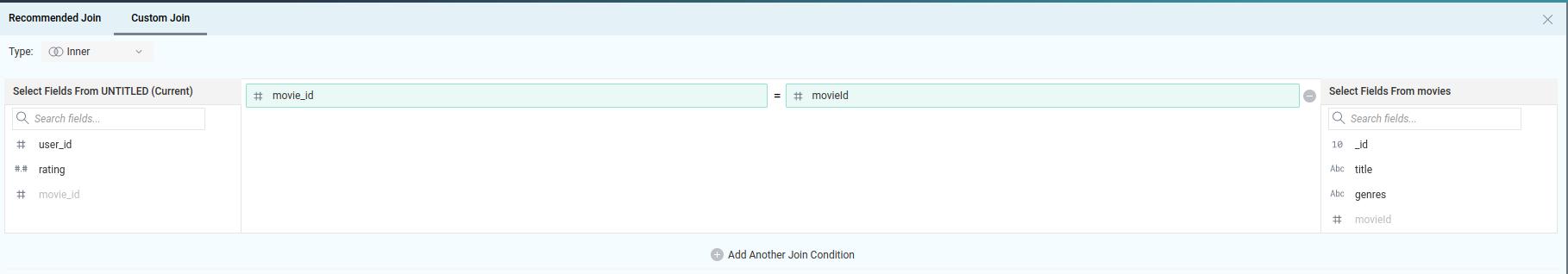 Creating inner join between Postgres and MongoDB