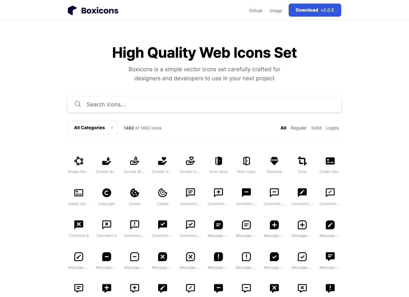 Boxicons icon set