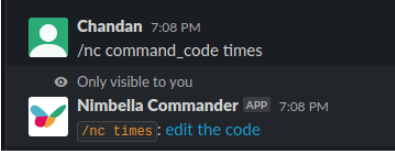 display time in slack by editing the code