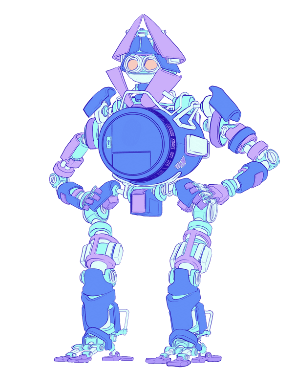 Illustration of a robot with a vault for a body, representing an ethereum wallet