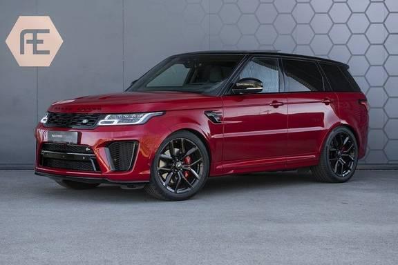 Land Rover Range Rover Sport SVR 5.0 V8 SC Meridian Reference Audio + Head Up + 360 Camera + Gekoelde/Verwarmde voorstoelen + Verwarmde  Achterbank + Carbon Motorkap Met Luchthappers + Ambianceverlichting