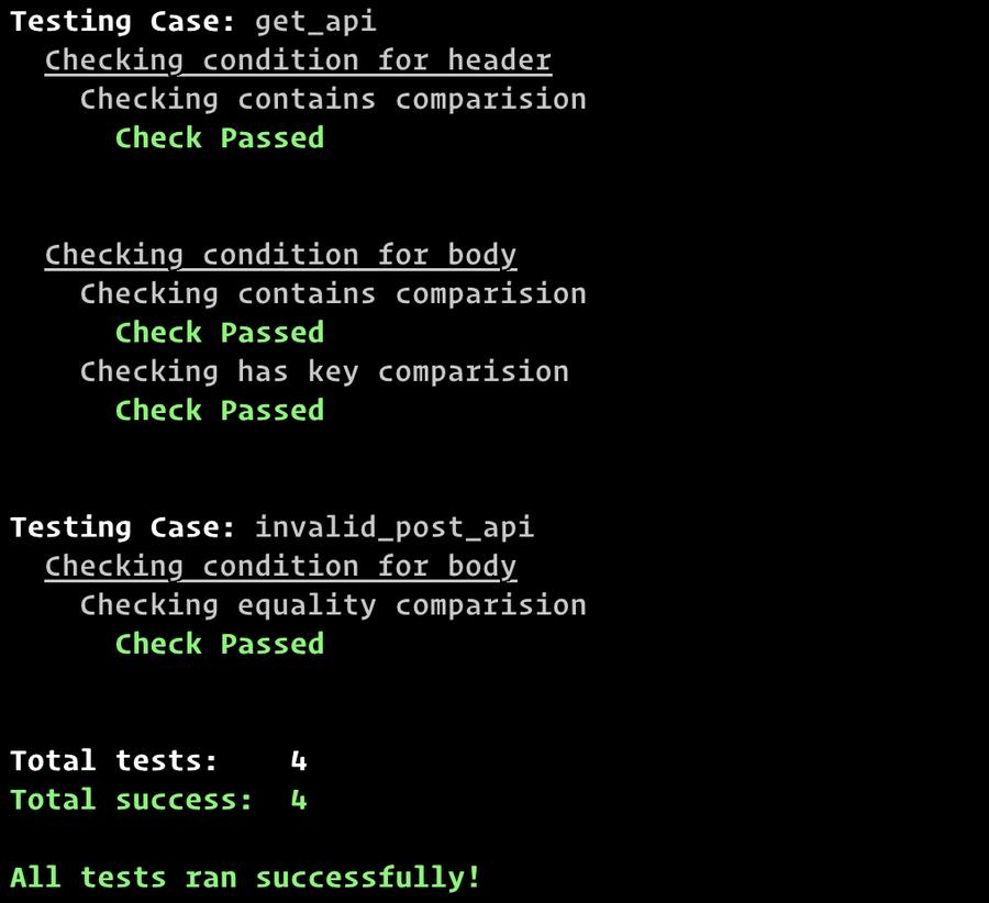 Test passing