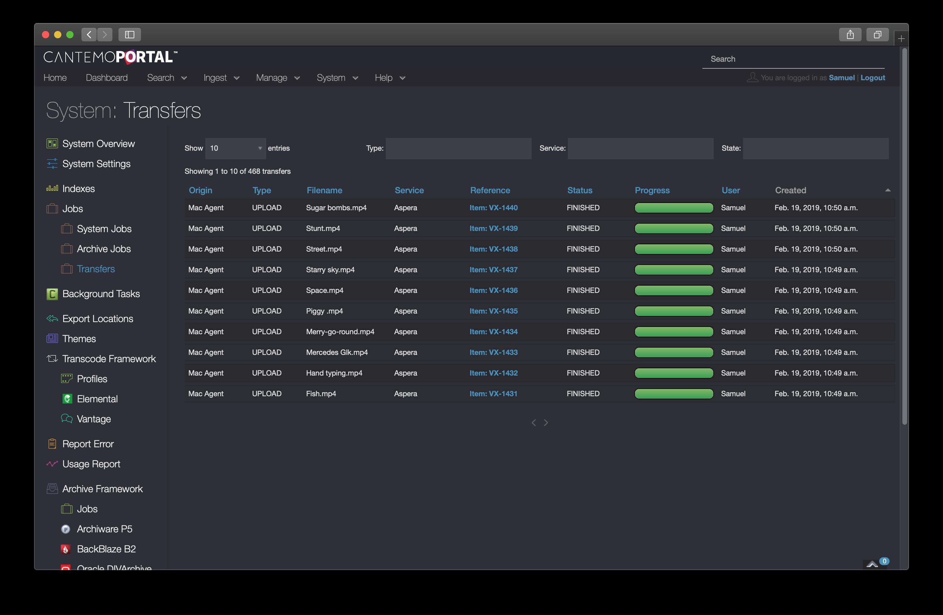 Portal 4 integration with Aspera