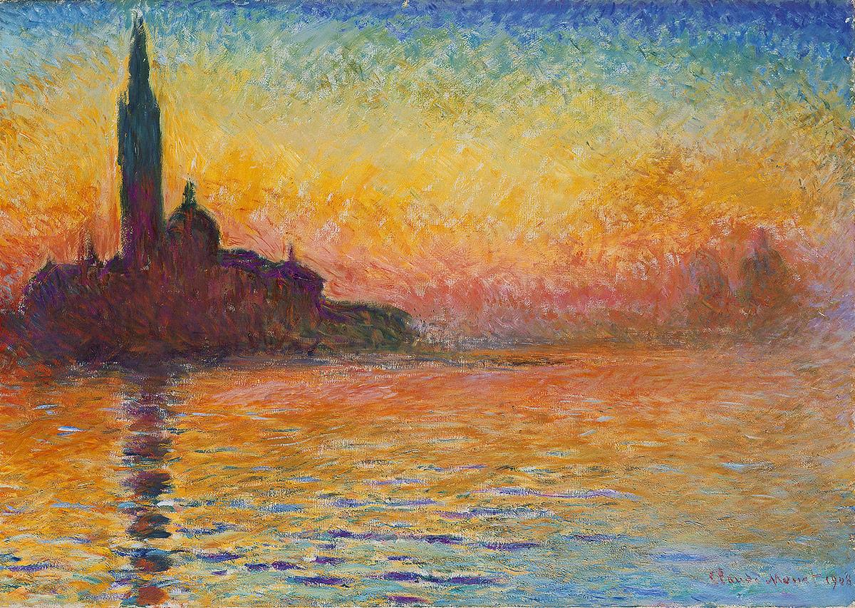 Клод Моне «Сан-Джорджо Маджоре в сумерках», (ок. 1908–1912)