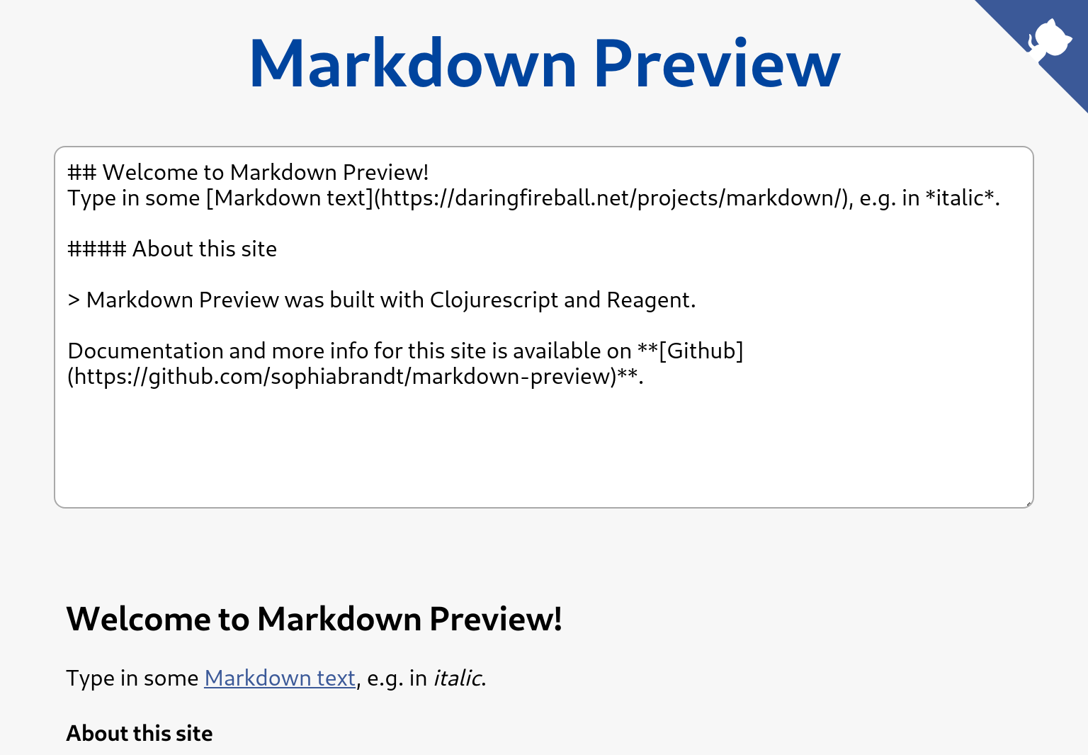 Markdown Preview App