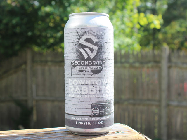 Downtown Rabbits, a Double IPA brewed by Second Wind Brewing Company