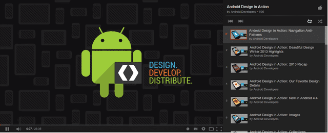 Android Design in Action Youtube