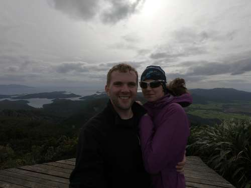 At the top of Mount Hobson