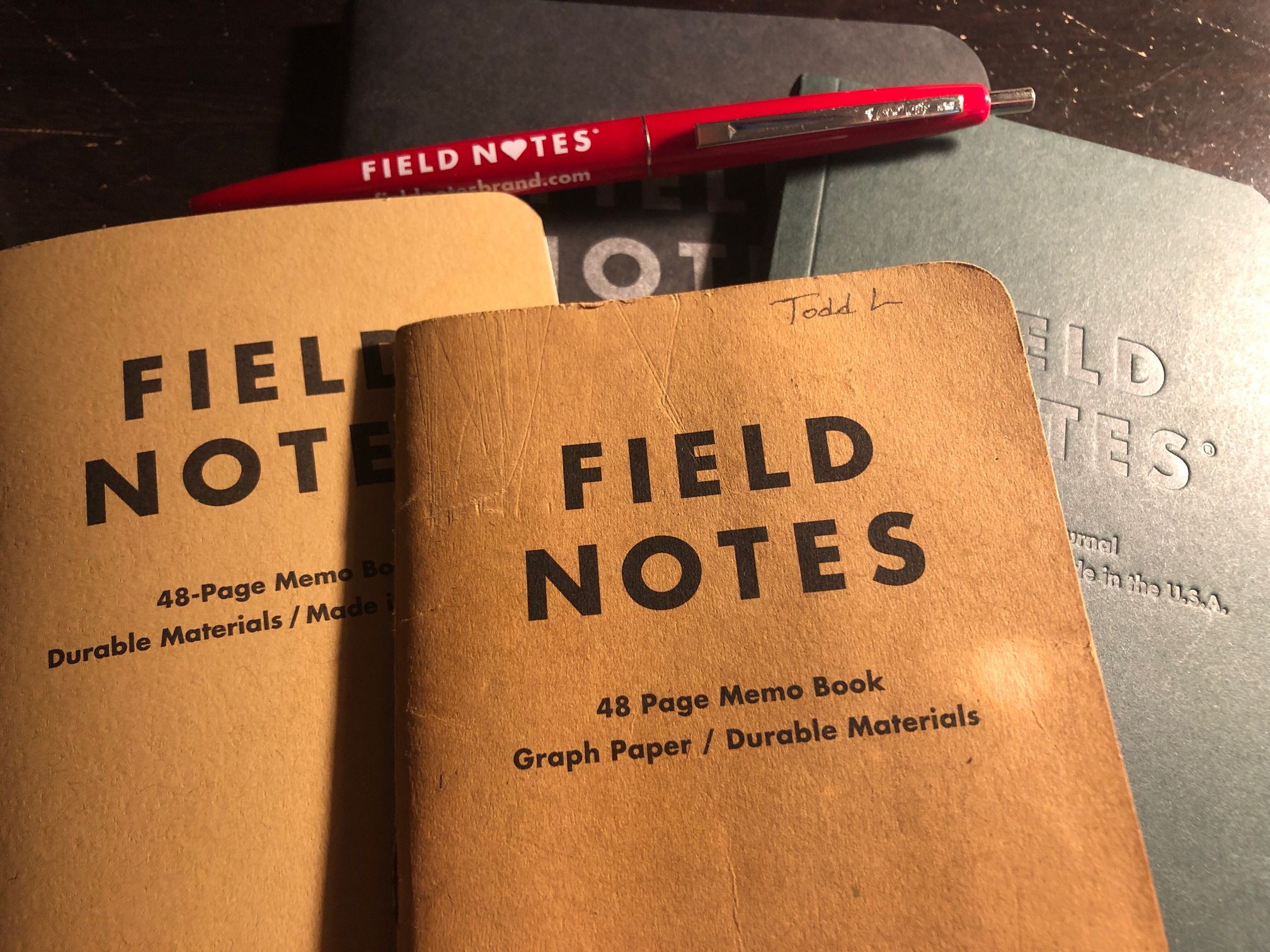 Field Notes Brand memo books