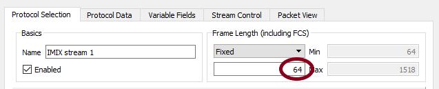 IMIX stream #1 - 64 bytes