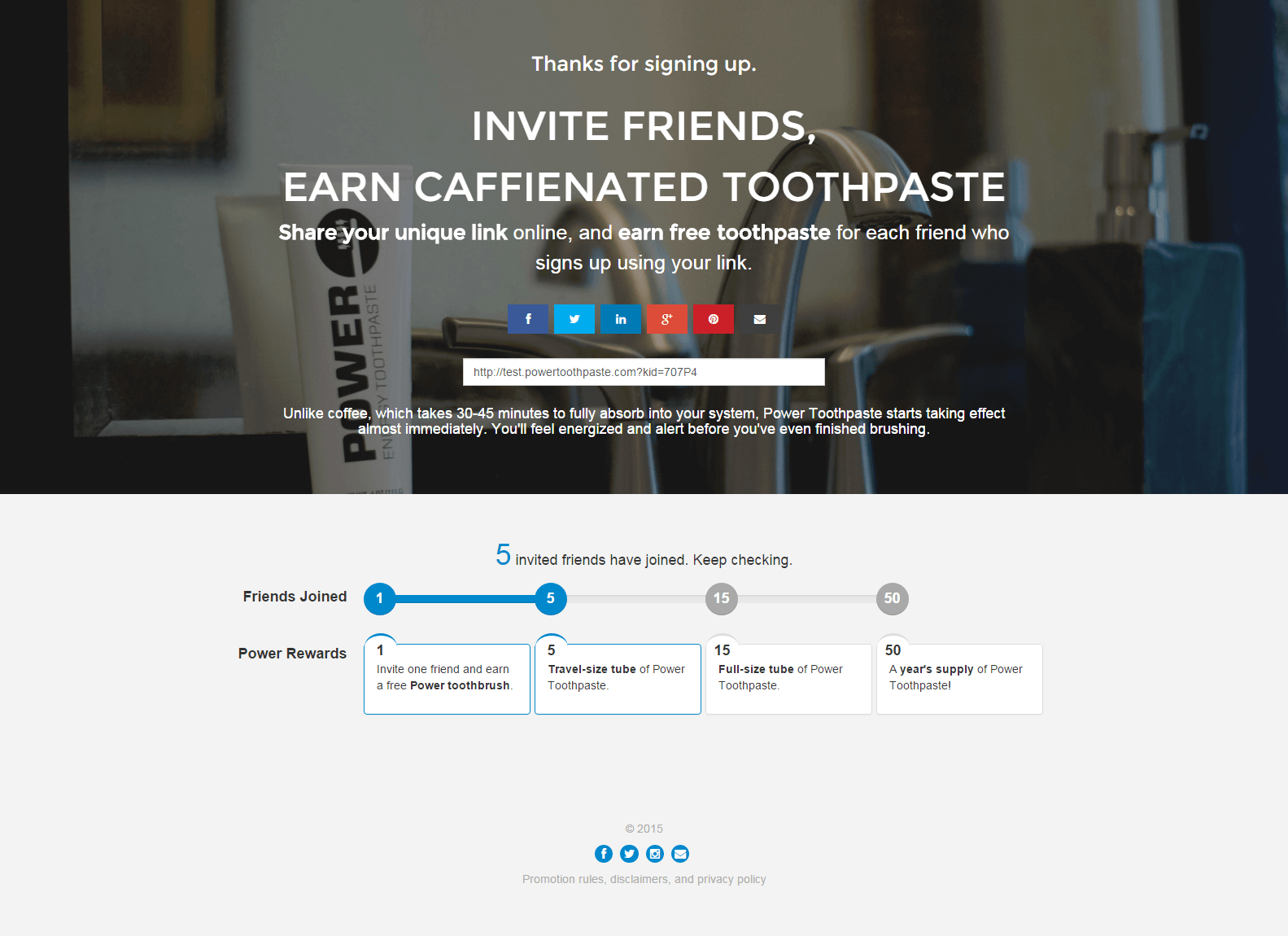 PowerToothpaste 'powers up' launch with viral social referral sharing