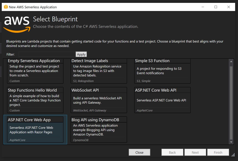 AWS Select core web app