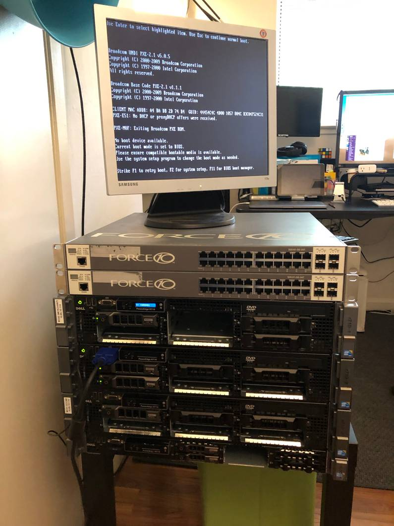 2nd hand data center equipment ready for tinkering