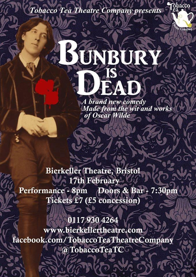 Poster for Bunbury is Dead, by Christopher Cutting