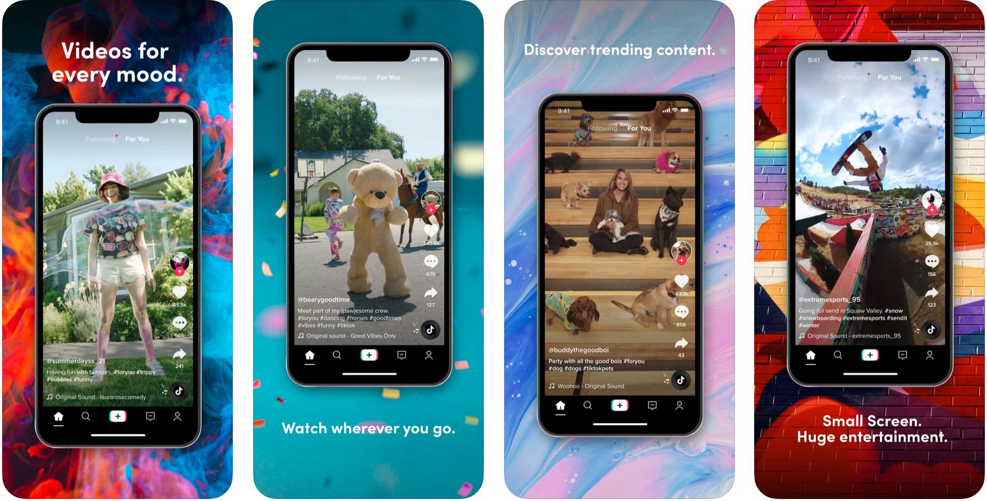 TikTok App Screenshots