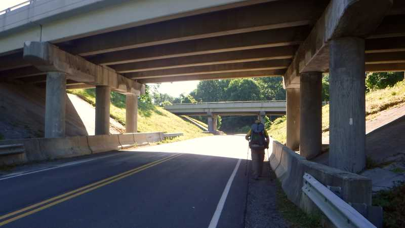 Underpass at I-81