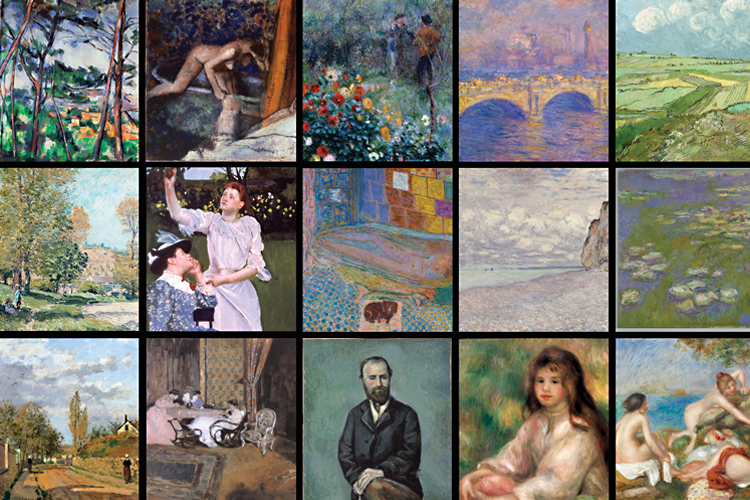 Grid of cropped images from the CMOA collection