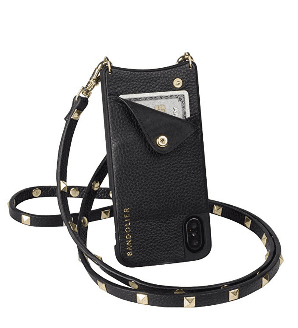 bandolier phone case in black