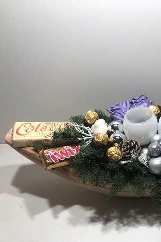 Super xxxl lange houten kerststuk