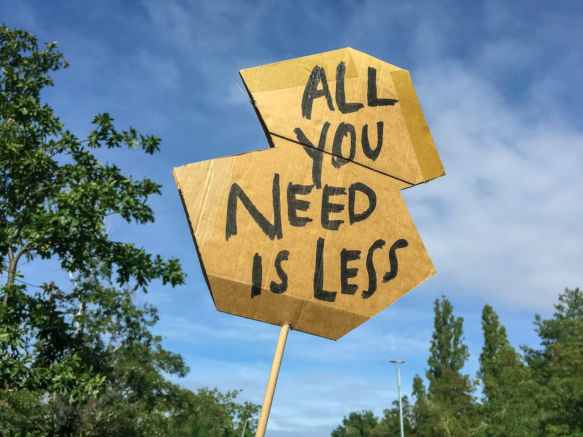 All you need is less - Photo by Etienne Girardet on Unsplash