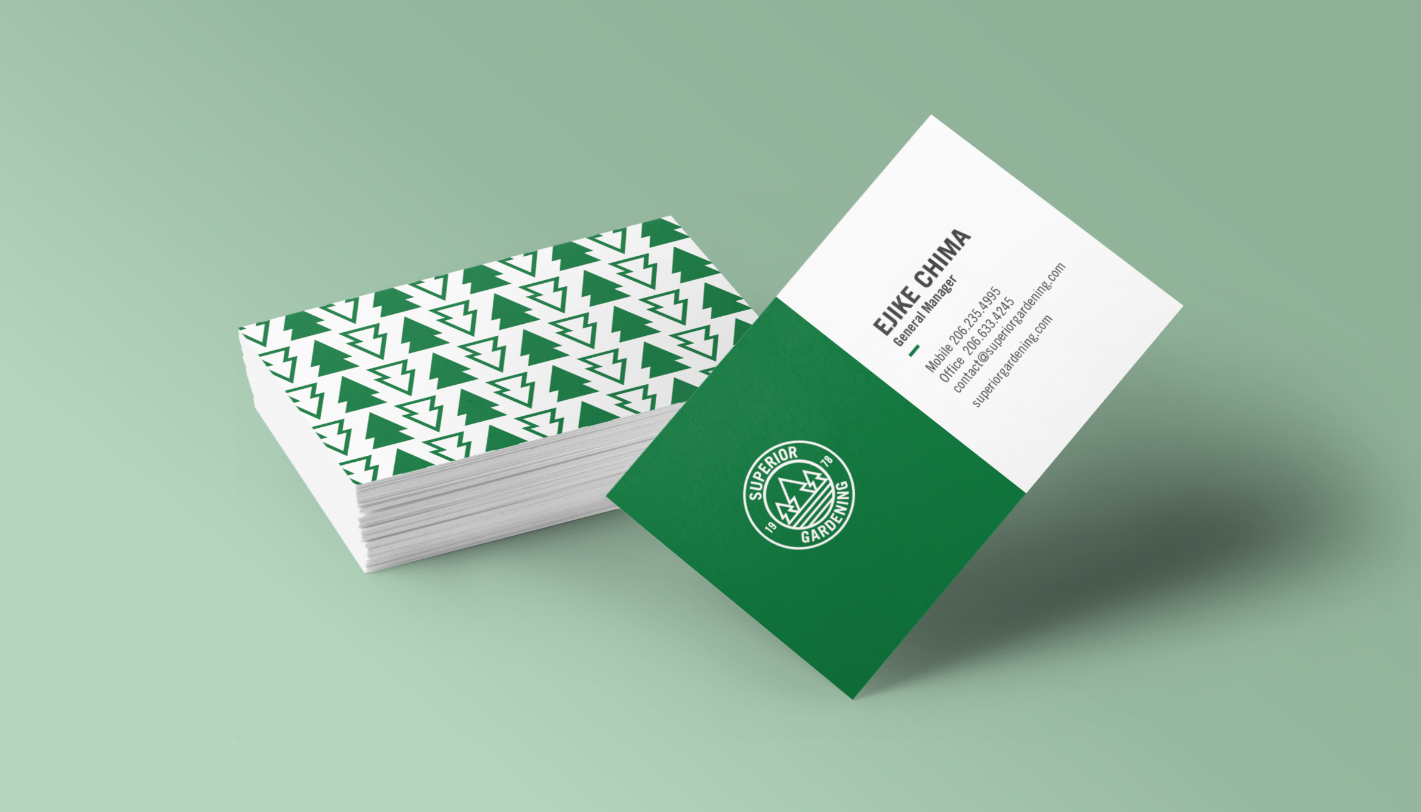 Superior Gardening Service Business Cards