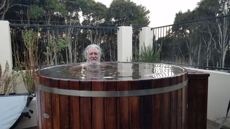 Hot tubbing on a cold day