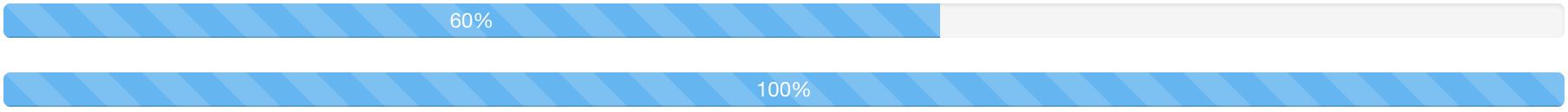 indeterminate stripped progress bar