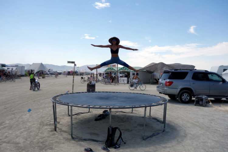 Burning Man Trampoline