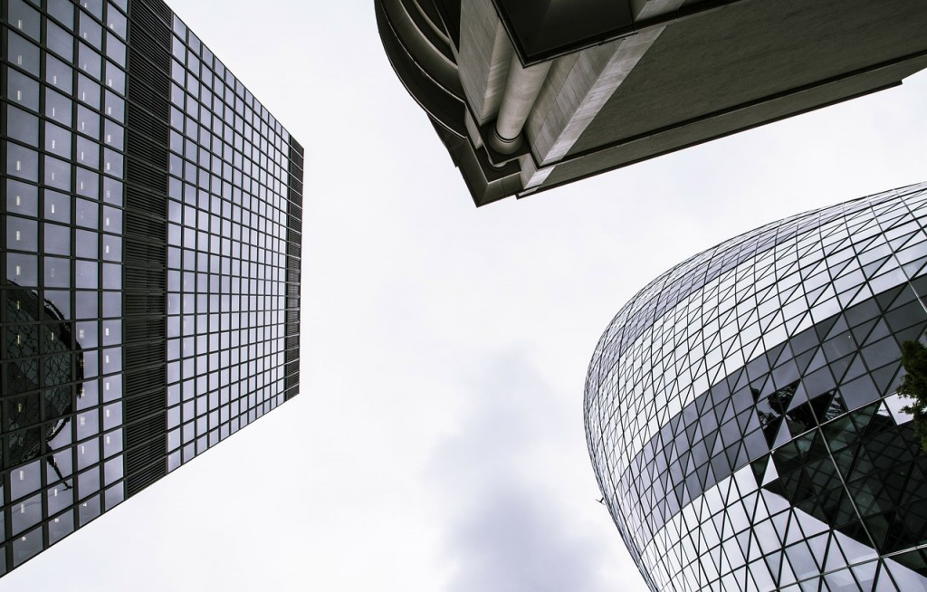 Skyscrapers Reaching Sky