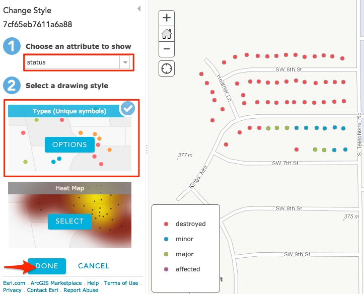 Changing Style in ArcGIS Online